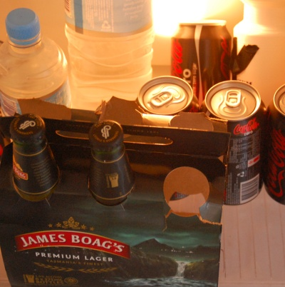My beer fridge - How the hell did soft drink & water get in there??!