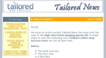 Tailored News June 2010