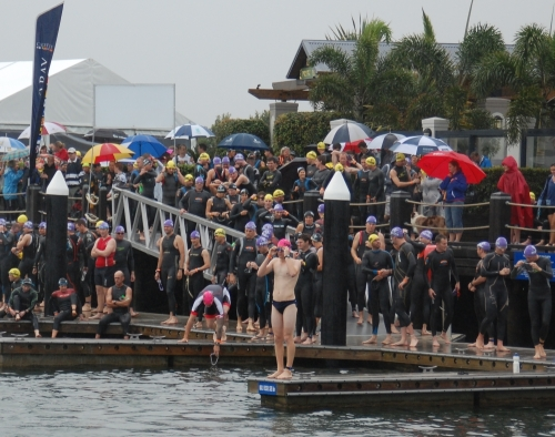 Me at the start of the Gold Coast Half ironman
