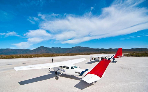 Par Avion are the only airline to fly into Melaleuca