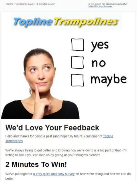 Example Survey Request