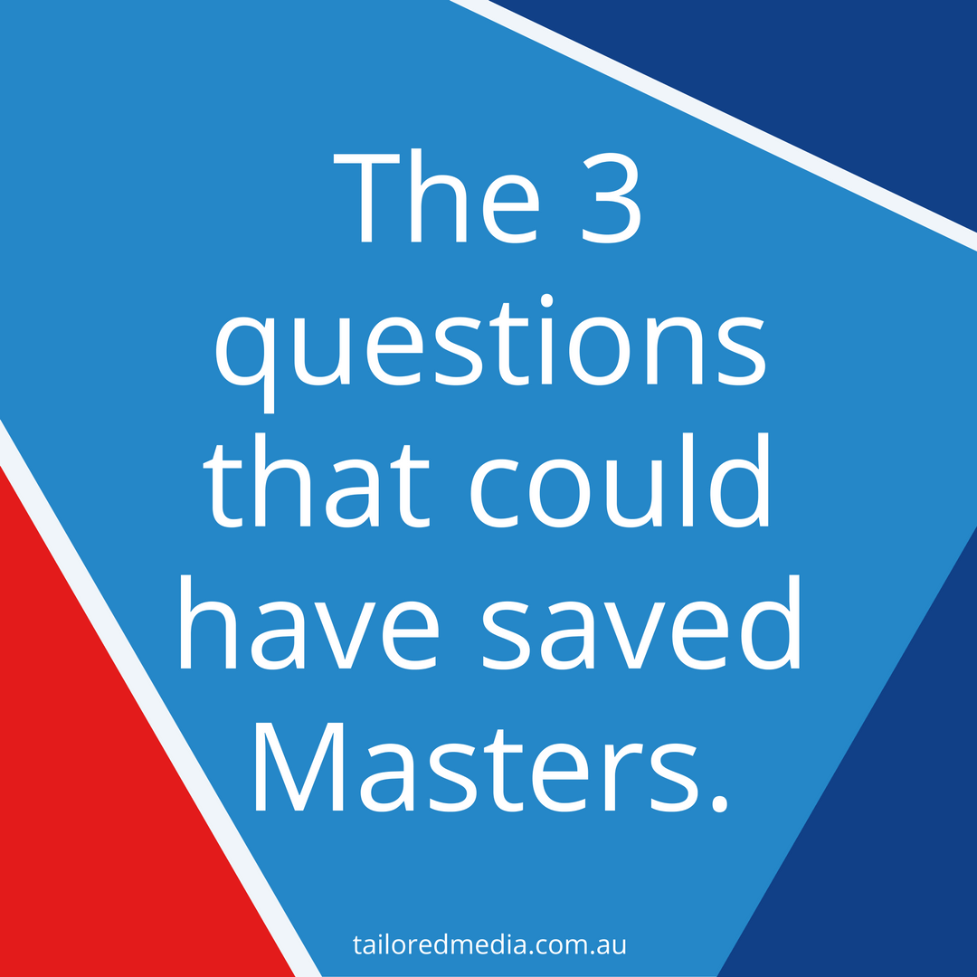 the questions that could have saved masters