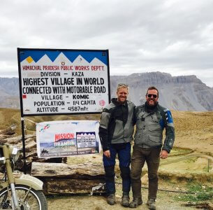 At the world's highest village accessible by road