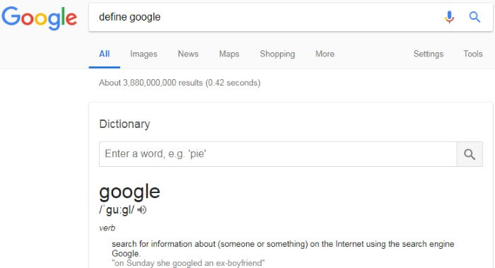 Definition of Google